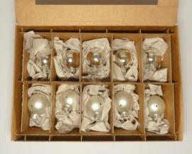 10 Kugeln (4cm) Silber-Mix
