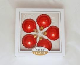 5 Kugeln (6cm) Rot opal (B-Ware)