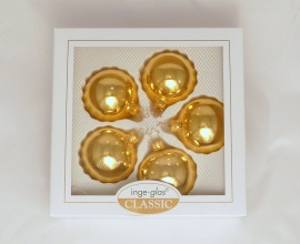 5 Kugeln (6cm) Gold glanz (B-Ware)